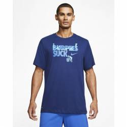 Man T-Shirt Nike BURPEES SUCK - Dri-FIT - blue