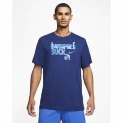 Pánské tričko Nike BURPEES SUCK - Dri-FIT - modré