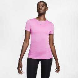 Woman T-Shirt Nike Pro - růžová