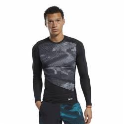 Man compression T-Shirt TS LS Tee - AOP - FJ4591
