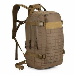 Tactical training bag with molle system - brown/camel