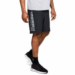 Man Shorts Under Armour Woven Graphic Wordmark gray