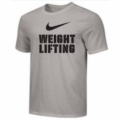 Man T-Shirt Nike Weightlifting Big Swoosh - grey