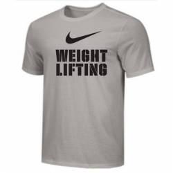 Man T-Shirt Nike Weightlifting Big Swoosh - grey