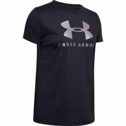Woman T-Shirt UA SPORTSTYLE CLASSIC CREW - black