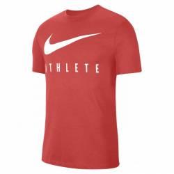 Man T-Shirt Nike Dri-FIT Mens Training - red