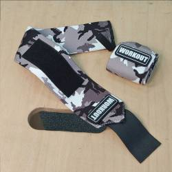 Wrist wrap 48 cm WORKOUT - Gray Camo