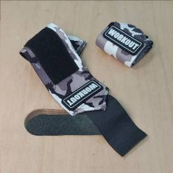 Wrist wrap 30 cm WORKOUT - Gray Camo