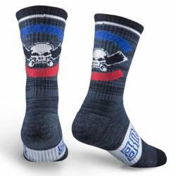 Rogue International socks - red/black/blue