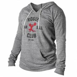 Woman hoodie Rogue Barbell Club 2.0 - gray