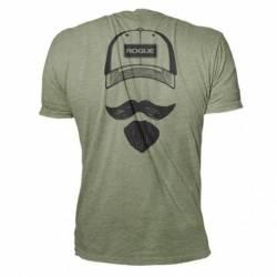 Man T-Shirt Rogue Josh Bridges Stache Shirt