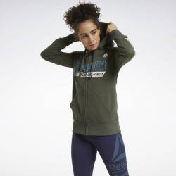 Woman hoodie Reebok CrossFit FEF Graphic Full Zip - FU2553
