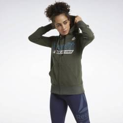 Woman hoodie Reebok CrossFit FEF Graphic Full Zip - FU2553