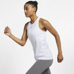 Woman Top Nike ALL OVER MESH - white