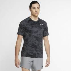 Man camo T-Shirt Nike TOP SS SLIM AOP grey