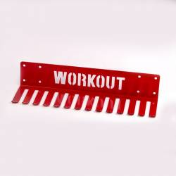 Holder for jump ropes and resistance bands on the wall - Workout - red