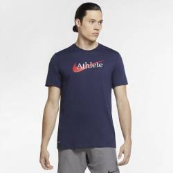 Man T-Shirt Nike Athlete dri-fit navy