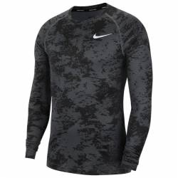Man T-Shirt with a long sleeve camo grey