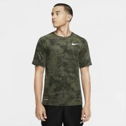 Pánské camo tričko Nike TOP SS SLIM AOP camo green