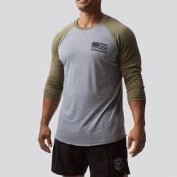 Man T-Shirt American Protector 2.0 Unisex Raglan (Military Green)