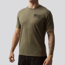 Man T-Shirt The American Protector 2.0 T-Shirt (Military Green)
