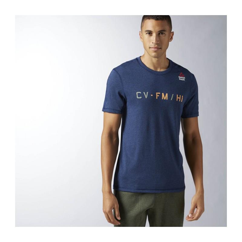 b8a354cfa85 Pánské tričko CrossFit POLY BLEND G2 BK1102 - WORKOUT.EU