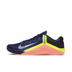 Man training Shoes Nike Metcon 6 - Deep Royal Blue/MTLC Platinum