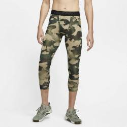 Man Tight Nike Pro Mens 3/4 Camo