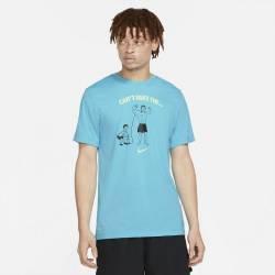 Man T-Shirt Nike Dri Fit - Cant Fake The Pump (Blue)