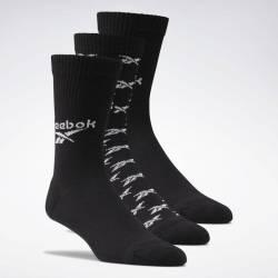 Ponožky CL FO Crew Sock 3P BLACK - GG6683