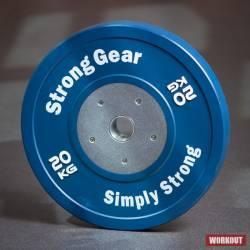 Závodní bumper kotouč - 20 kg modrý