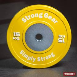 Competition Bumper Plate 15 kg Yellow