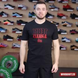 Nike Mens Tee Clean and Jerk - Black/Red