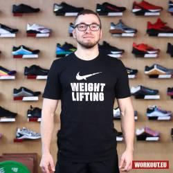 Nike Mens Tee Weightlifting - Black/White