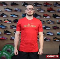 Nike Mens Weightlifting Tee - Red/Gold