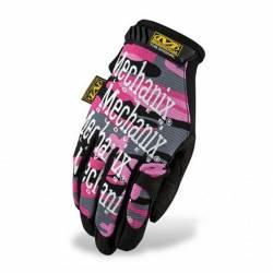 Mechanix Original dámské rukavice - Růžová/Maskáčová