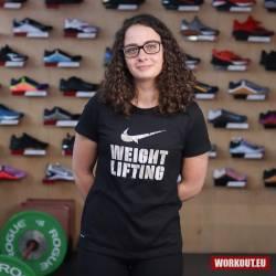 Woman T-Shirt Nike Weightlifting - black