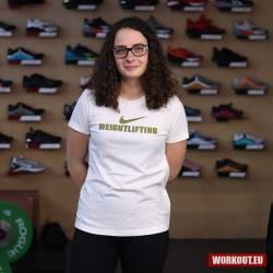Dámské tričko Nike Weightlifting - Bílá/Zlatá