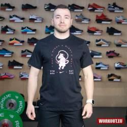 Man T-Shirt Nike Dri Fit Gym Rat - Black