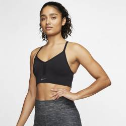 Woman Bra Nike Indy - Black/DK Smoke Grey