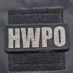Nášivka HWPO metalická stříbrná - lesk