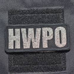 Nášivka HWPO metalická stříbrná - lest