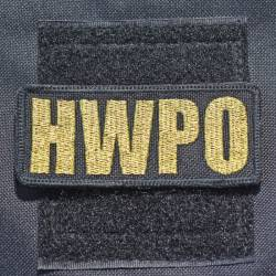 Nášivka HWPO metalická zlatá - lesk