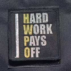 Nášivka Hard work pays off HWPO gold - velká