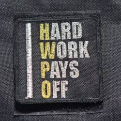Patch Hard work pays off HWPO gold - big
