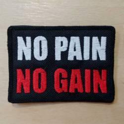 Nášivka se suchým zipem No Pain No Gain