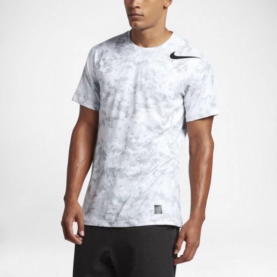 b412fe372 T-shirt Nike Pro HyperCool grey - WORKOUT.EU