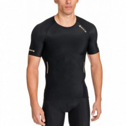 Man compression T-Shirt short sleeve A400 Gold