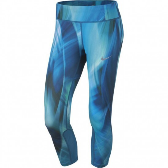Dámské legíny 3 4 Nike Power Epic print blue - WORKOUT.EU a34e456cd5